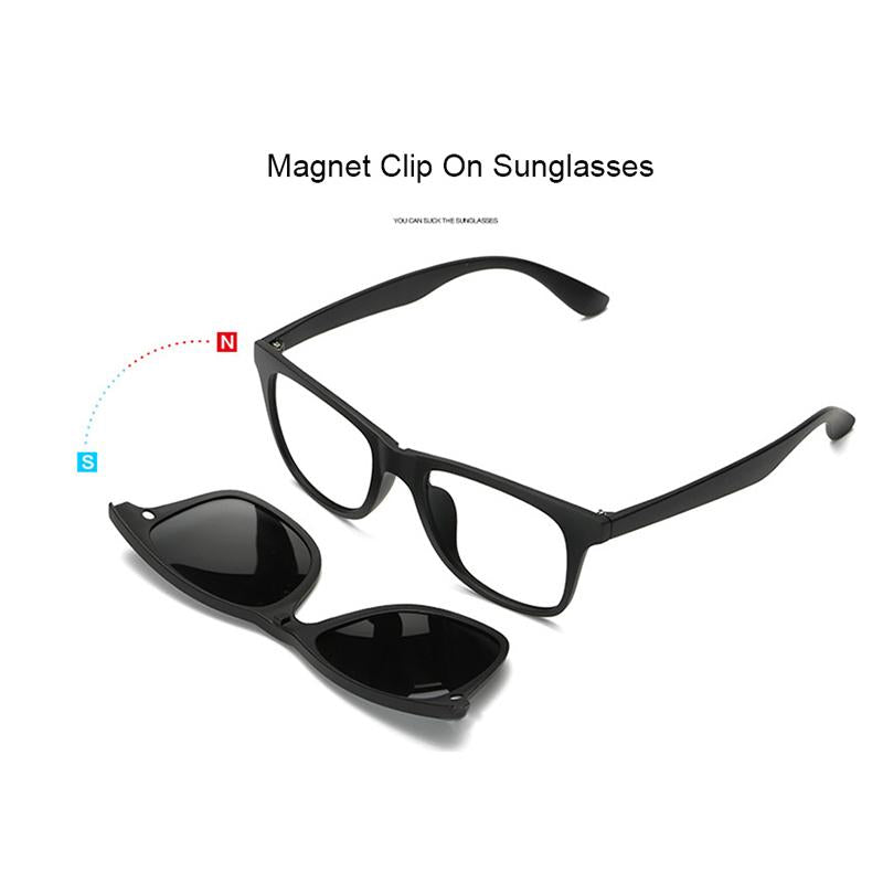 Eyeglasses with 5 Clip On Glasses