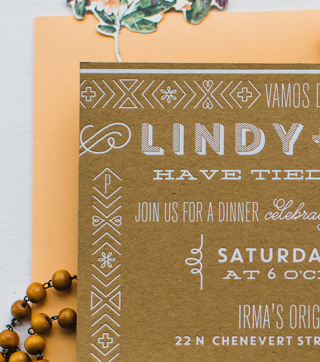 lindy & chris's sun-bleached fiesta wedding celebration invitations