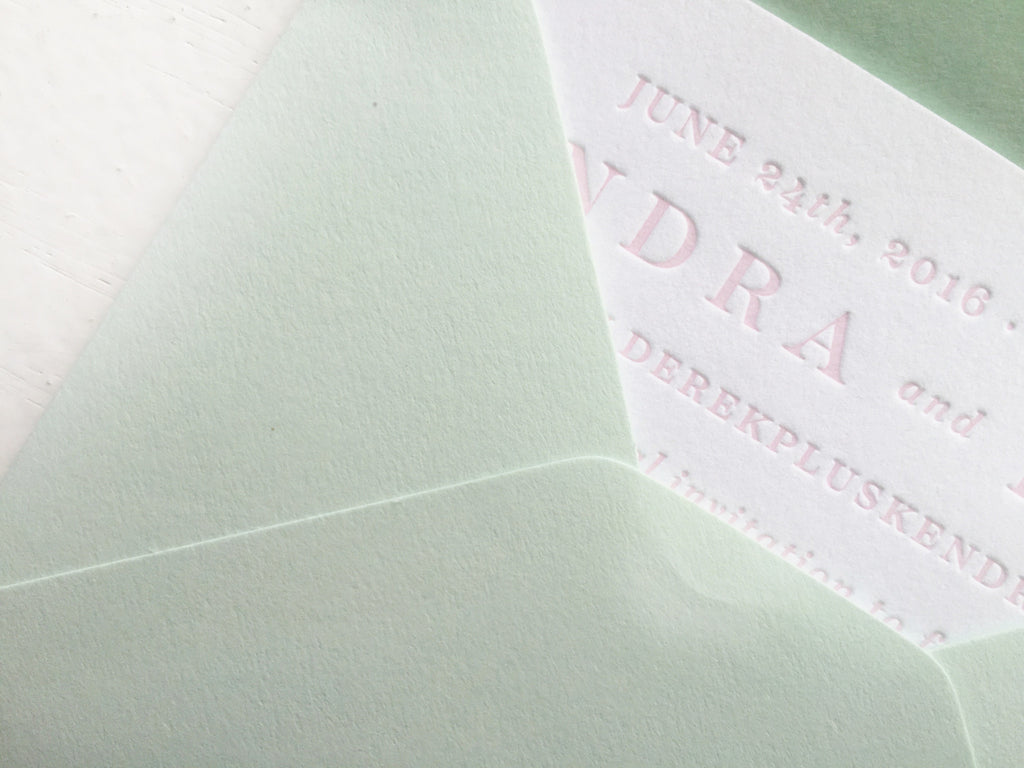 blush & blind letterpress save the dates featuring aspen's maroon bells