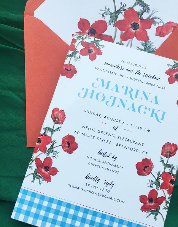 marina's wizard of oz-inspired shower invitations