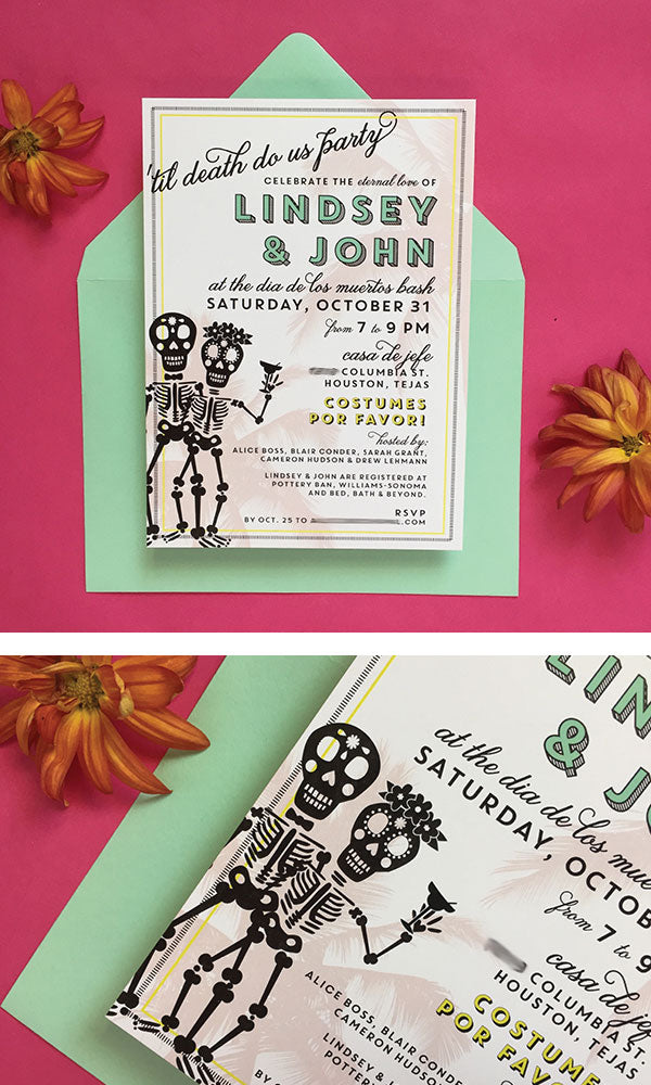 Day of the Dead Couples Wedding Shower Invitation