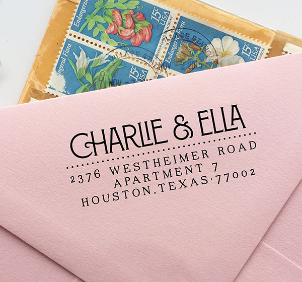 1920's Return Address Stamp Deco
