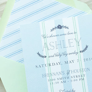 French Linen Baby Shower Invitation