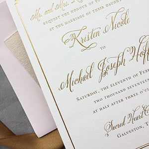 Blush, Gold & Rose Gold Wedding Invitations