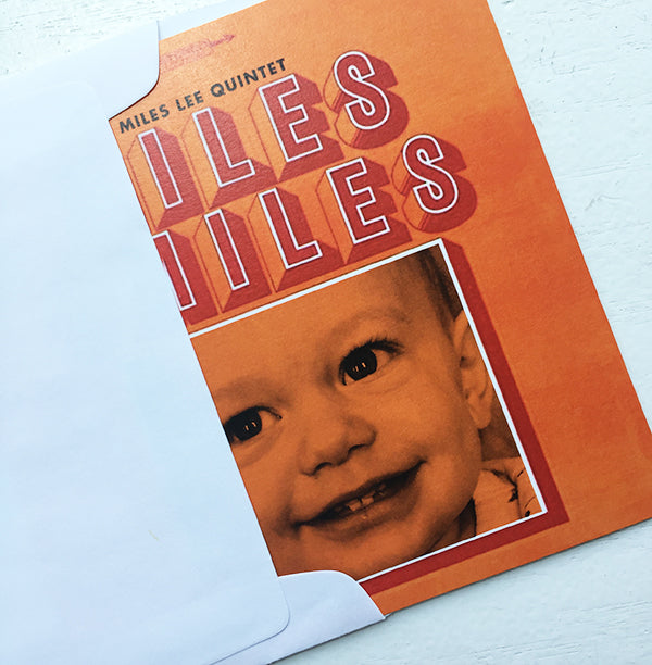 Miles Smiles Birthday Party Invitation Record Album
