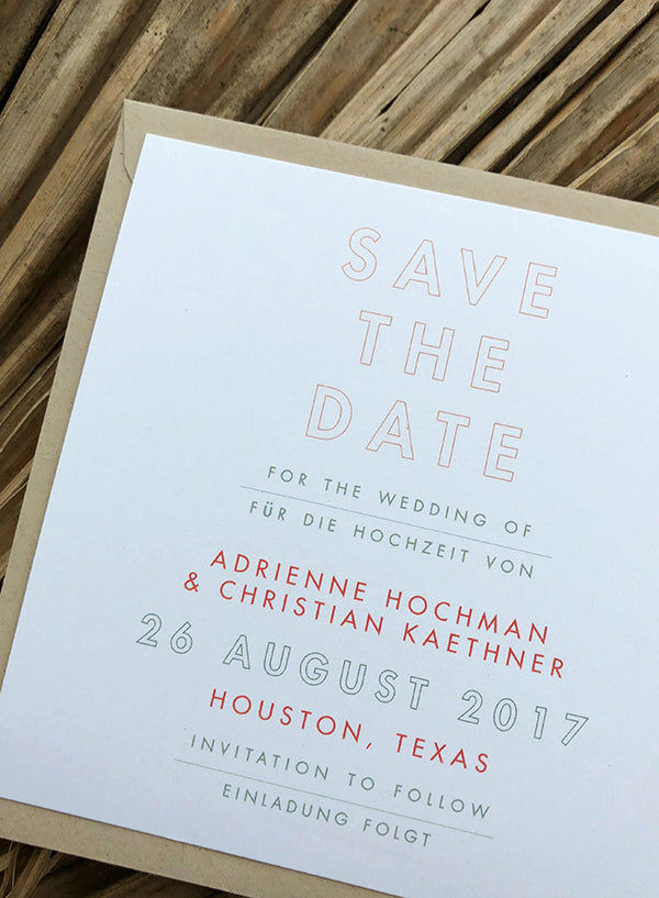 Bilingual Save the Date