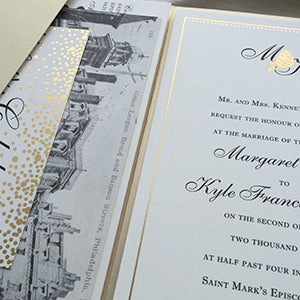 Formal Philadelphia Wedding Invitation
