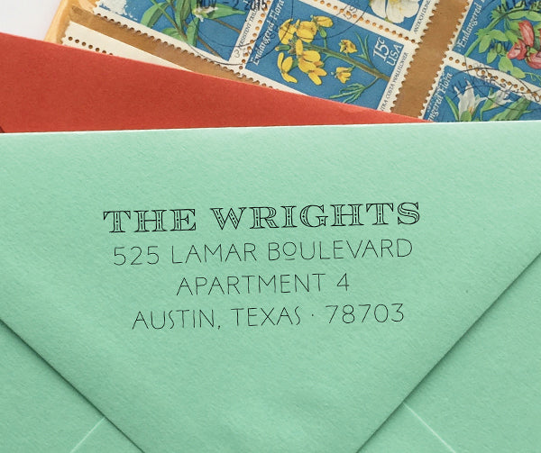 Art Deco Return Address Stamp