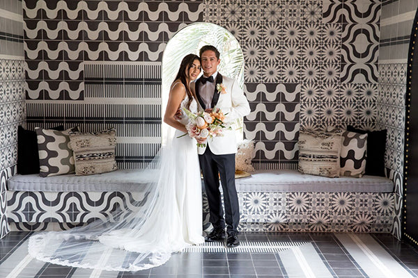 The Sands Indian Wells Palm Springs Wedding Black and White