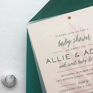 Emerald and Blush Modern Boho Baby Shower