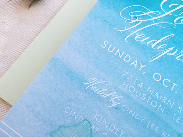 Watercolor Baby Shower Inviation