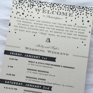 Wedding Welcome Agenda