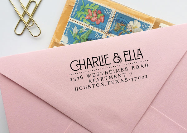 1920's Inspired Return Address Stamp
