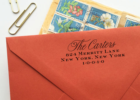Classic Calligraphy Return Address Stamp