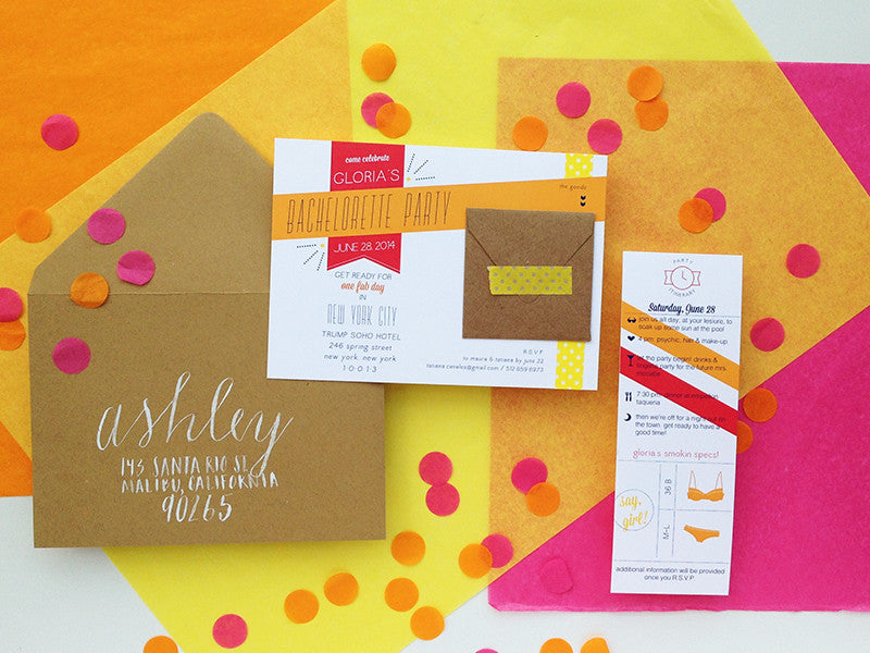 Bachelorette Weekend Invitation & Itinerary (custom colors available!)