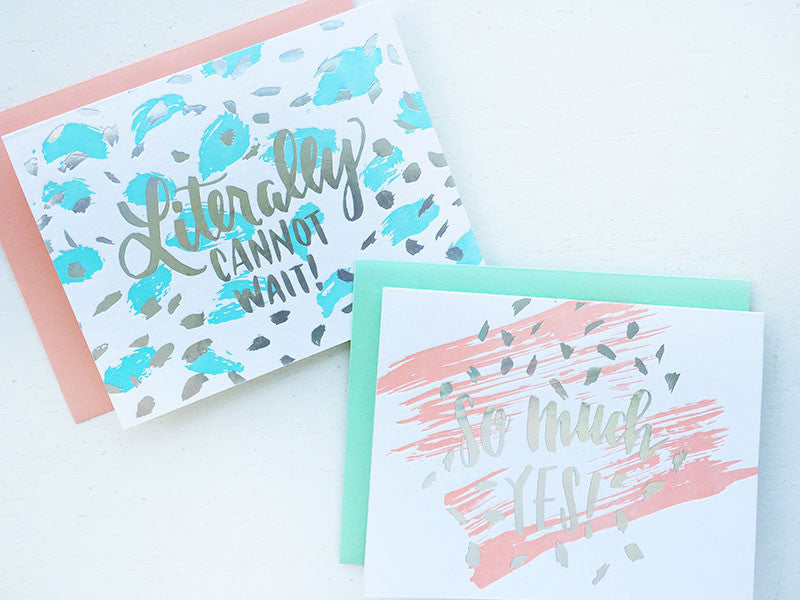 #BGxCf Set of 2 Cards: Letterpress & Holographic Foil Greeting Cards
