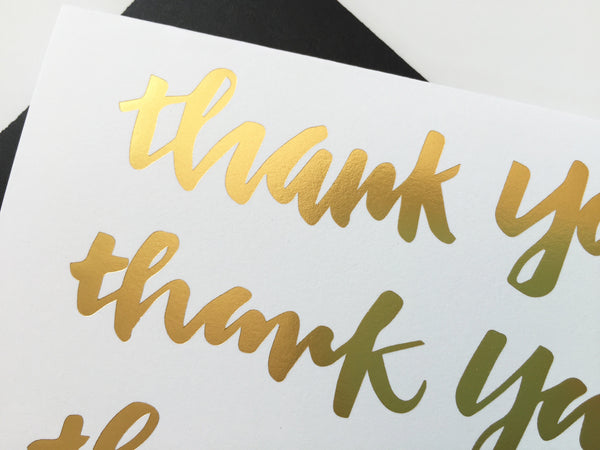 Thank You - Gold Foil Note Card Set