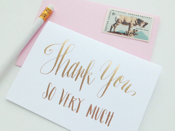 Thank You So Much Gold Foil Notecard Set