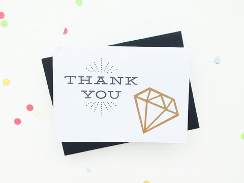 Thank You - Geometric Gold Foil Set