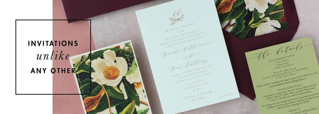 Foil Stamp Printed Invitations