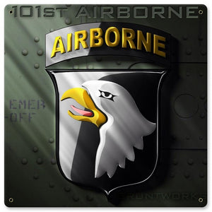 101st Airborne Metal Wall Sign