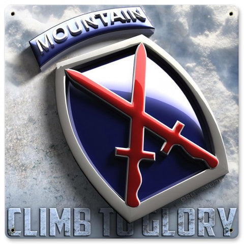 10th Mountain Metal Wall Sign