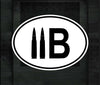 11B OVAL CUT DECAL