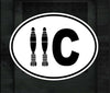 11C OVAL CUT DECAL