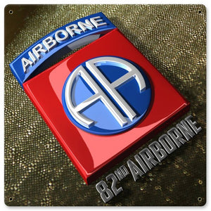 82nd Airborne Metal Wall Sign