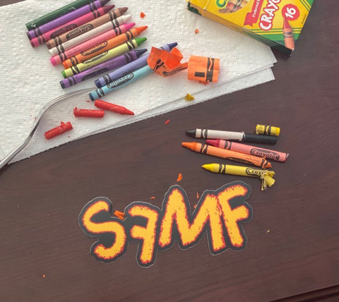 SFMF CRAYON DIE CUT DECAL