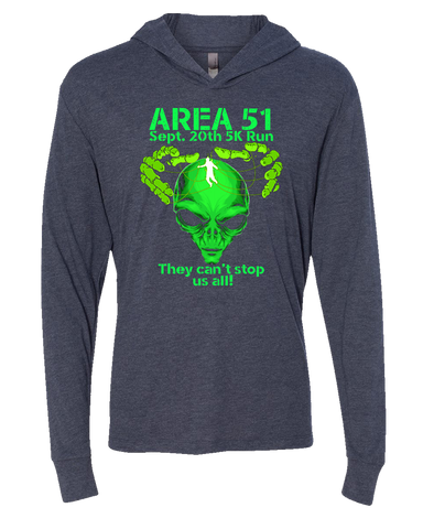 Image of Area-51 5K Race Triblend Hoodie Tee