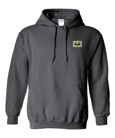 Image of G4G Embroidered Hoodie -grey-yellow logo