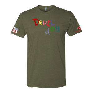 DEVIL DOG-Crayon Shirt (OD OR CHARCOAL GRAY)