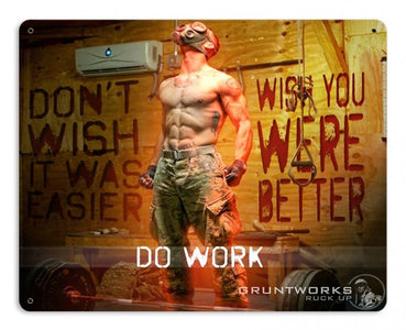 Do Work Metal Wall Sign