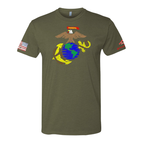 Image of EAGLE GLOBE ANCHOR -Crayon Shirt (OD OR CHARCOAL GRAY)