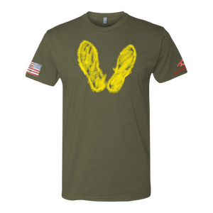 YELLOW FOOTPRINTS CRAYON SHIRT (OD OR CHARCOAL GRAY)