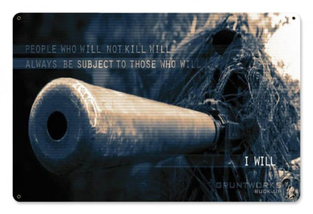 I Will  Metal Wall Sign