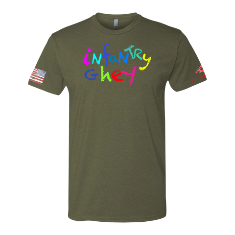 INFANTRY GHEY Crayon Shirt (OD OR CHARCOAL GRAY)