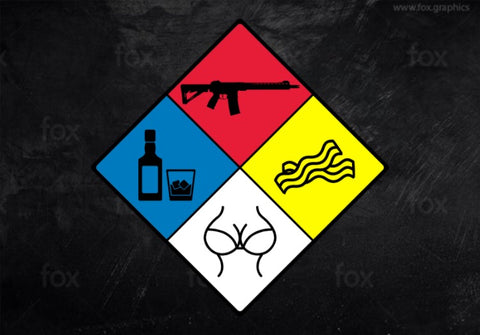 LGBT Hazard Sign Decal