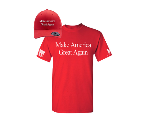 MAKE AMERICA GREAT AGAIN... THE SHIRT AND HAT COMBO (MAGA)
