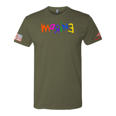 MARINE FULL COLOR Crayon Shirt (OD OR CHARCOAL GRAY)