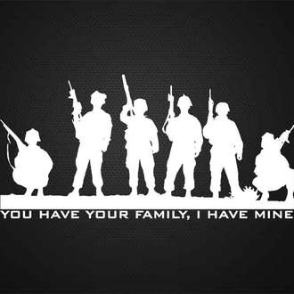 "5"" MILITARY FAMILY DECAL"