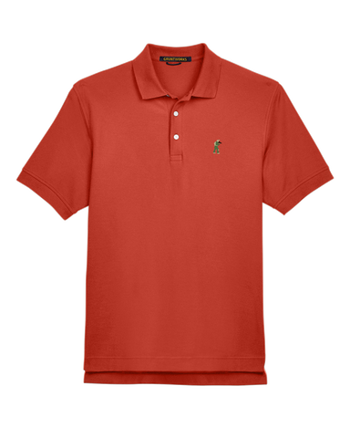 Classic Mesh TactiPolo - Rust