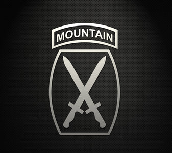 "10th Mountain Division 5"" Cut Vinyl Decal"