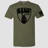 BAMF logo shirt (OD Green/Black)