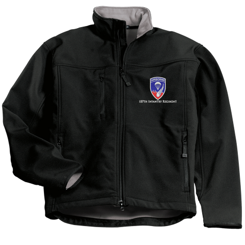 Image of Custom Embroidered 187th ARCT Concealed Carry Soft Shell Jacket