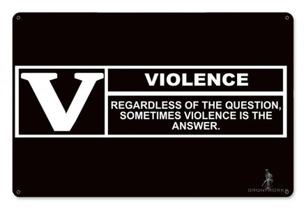 Violence Rating Wall Sign