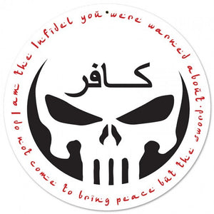White Infidel II Metal Wall Sign