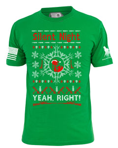 "Silent Night Ugly Christmas ""Sweater"" tee shirt"