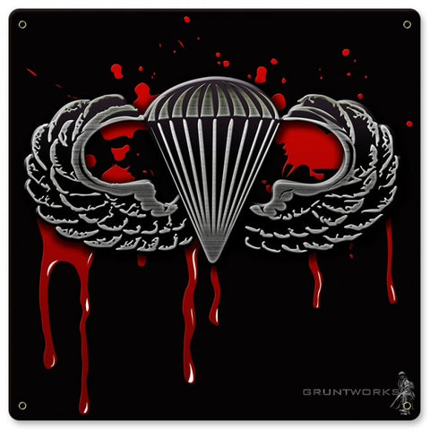 Blood Wings Metal Wall Sign